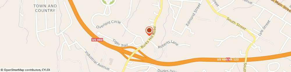 Route/map/directions to Progressive Insurance, 24523 Bedford, 752 Burks Hill Rd