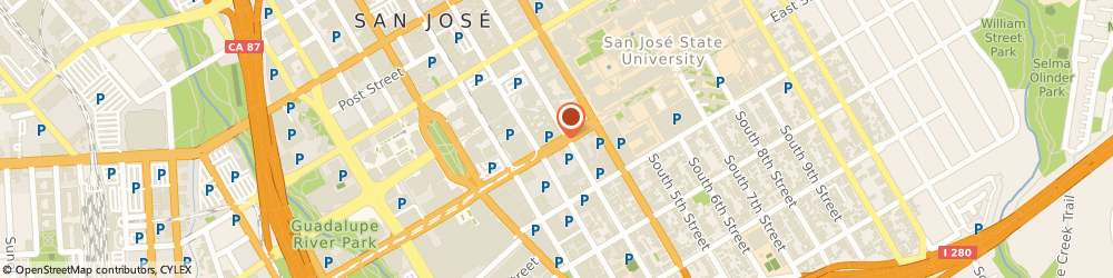 Route/map/directions to FedEx Office Print & Ship Center, 95112 San Jose, 93 E San Carlos St