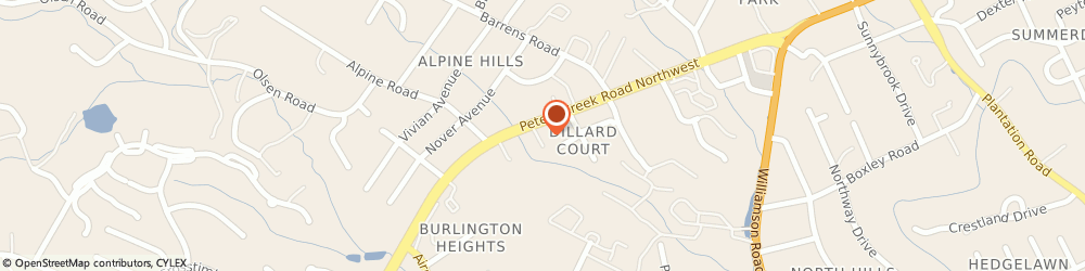 Route/map/directions to HOME INSTEAD, 24019 Roanoke, 6349 Peters Creek Rd