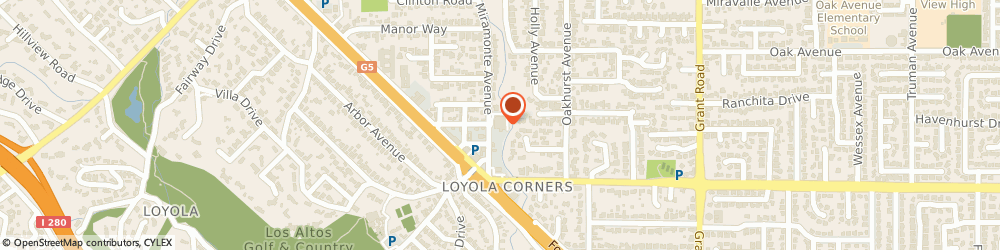 Route/map/directions to Post Office - Loyola Corners Station, 94024 Los Altos, 1525 MIRAMONTE AVENUE