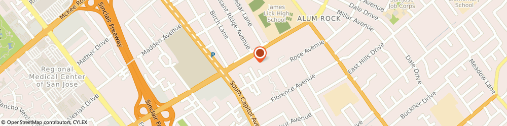 Route/map/directions to Citibank, 95127 San Jose, 2830 Alum Rock Ave