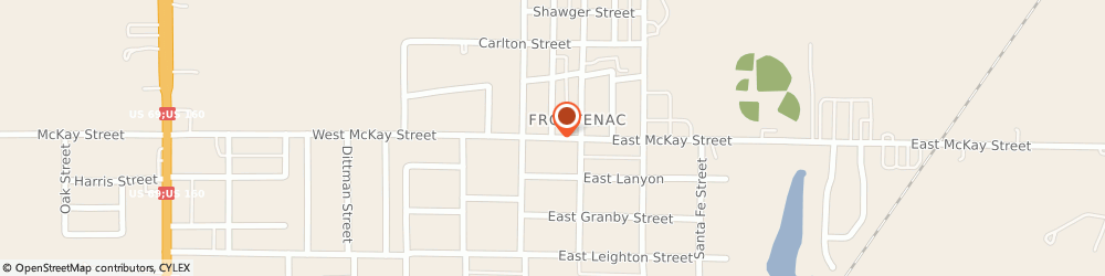 Route/map/directions to Post Offices - Frontenac, 66763 Frontenac, 204 EAST MCKAY STREET