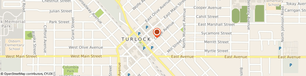 Route/map/directions to Farmers Insurance - Nathan Dabulewicz, 95380 Turlock, 137 S Center St