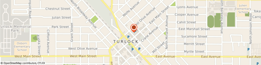 Route/map/directions to Farmers Insurance Turlock, Raul Cruz, 95380 Turlock, 136 N CENTER ST