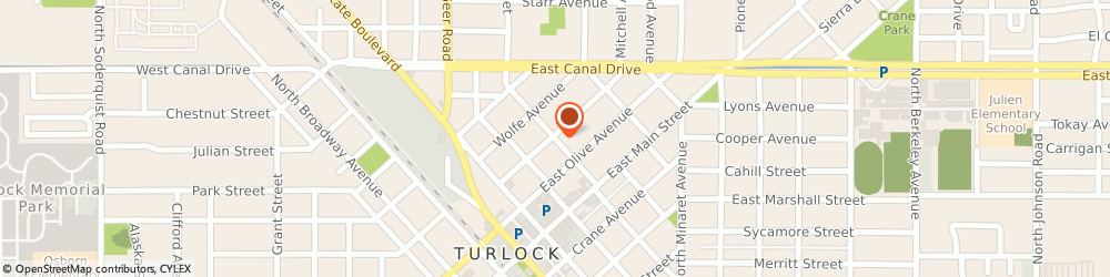 Route/map/directions to Farmers Shawn Looney, 95380 Turlock, 271 N Palm St