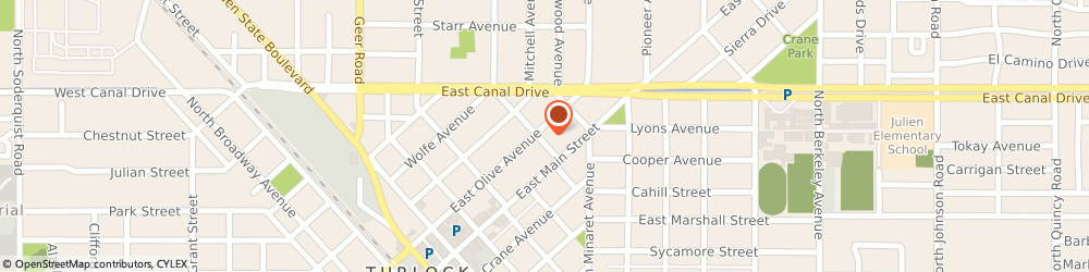 Route/map/directions to Farmers Ken Lesan, 95380 Turlock, 700 E Olive Ave