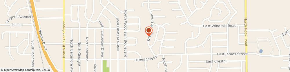 Route/map/directions to Mary Kay Cosmetics - Independent Sales Directors, Mckean Jo, 67037 Derby, 1221 DRY CREEK DRIVE