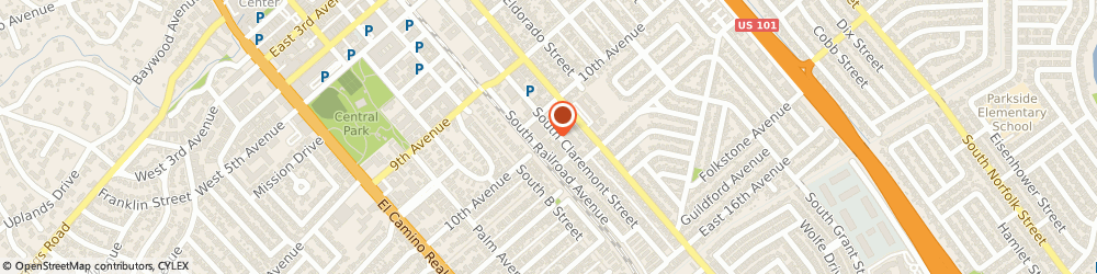 Route/map/directions to MURRAYS TRUCK & AUTO REPAIR, 94402 San Mateo, 1016 S Claremont Street