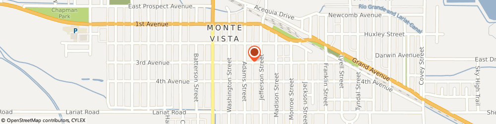 Route/map/directions to Riggenbach Agency, 81144 Monte Vista, 919 3RD AVENUE