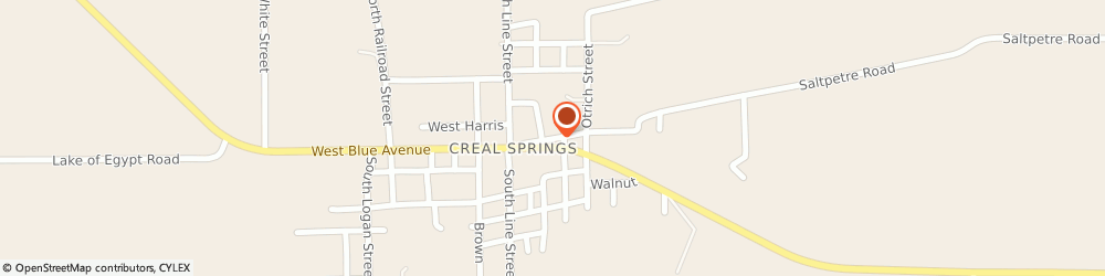 Route/map/directions to Safeco Insurance Agent, 62922-2187 Creal Springs, 200 E Keely St