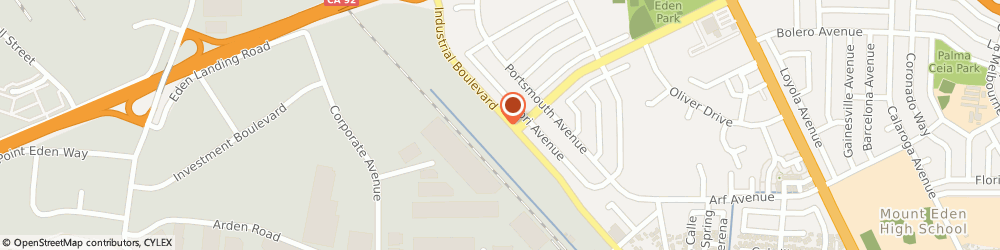 Route/map/directions to 1856 Productions, 94545 Hayward, 27343 Industrial Blvd, Unit B