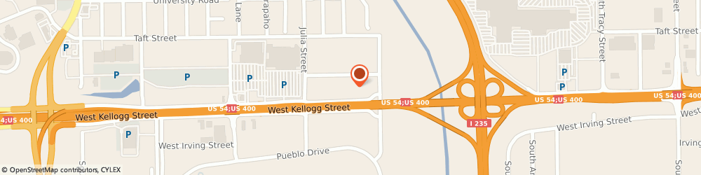 Route/map/directions to Motel 6 Wichita Airport, 67209 Wichita, 5736 West Kellogg Dr