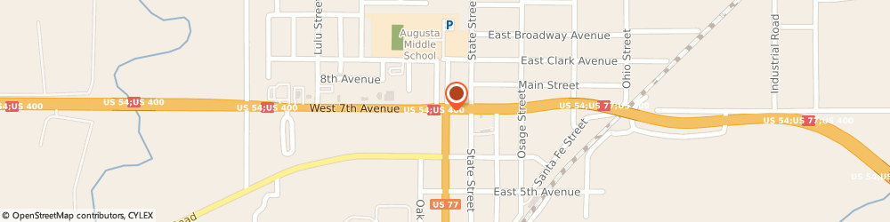 Route/map/directions to Farm Bureau Financial Services, 67010 Augusta, 213 W 7TH AVE