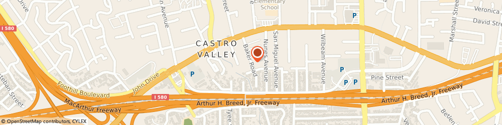 Route/map/directions to Ruby's Place, Inc., 94546 Castro Valley, 20880 Baker Road