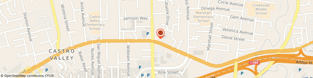 Route/map/directions to Atm Great Western Bank, 94546 Castro Valley, 3500 Castro Valley Blvd