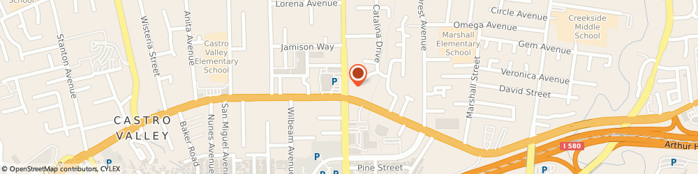 Route/map/directions to Atm Great Western Bank, 94546 Castro Valley, 20650 Redwood Road