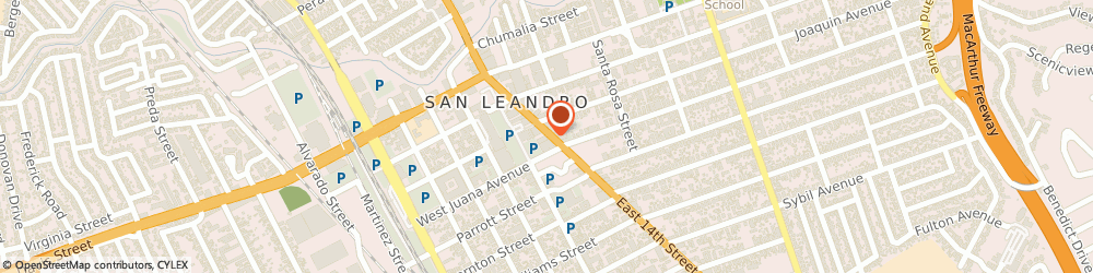 Route/map/directions to Taco Bell, 94577 San Leandro, 1443 E 14TH ST