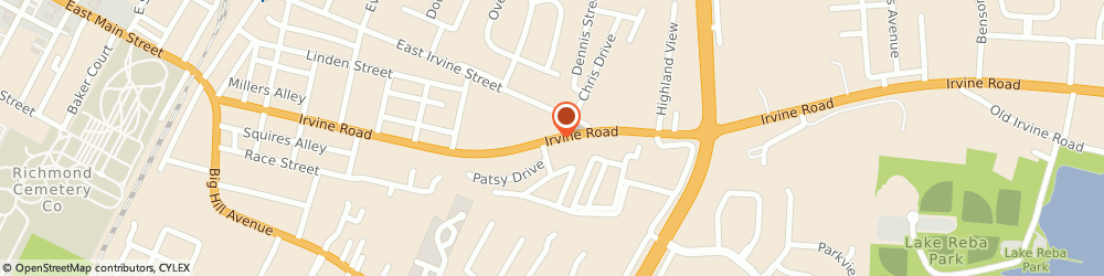 Route/map/directions to Salvation Army Corps, 40475 Richmond, 1675 EAST MAIN STREET