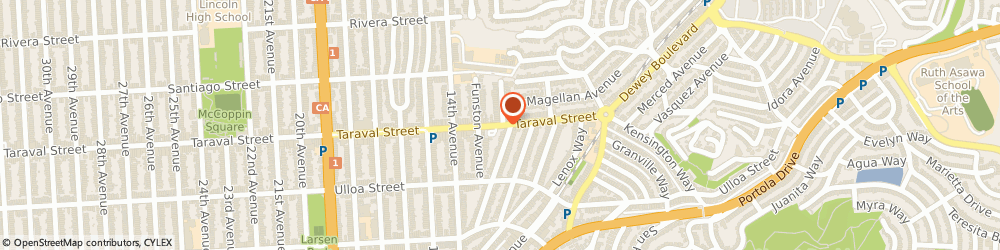 Route/map/directions to Action Software Developers, 94102 San Francisco, 450 TARAVAL ST # 206
