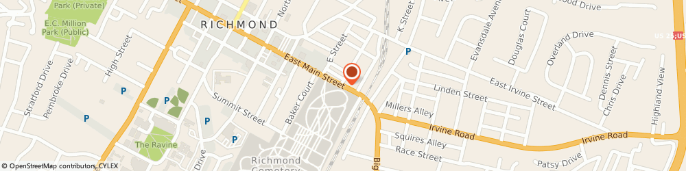 Route/map/directions to Salvation Army Shelter, 40475 Richmond, 613 EAST MAIN STREET
