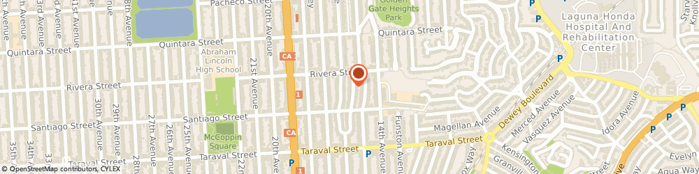 Route/map/directions to Valois Software, Inc., 94116 San Francisco, 2237 CECILIA AVE.,