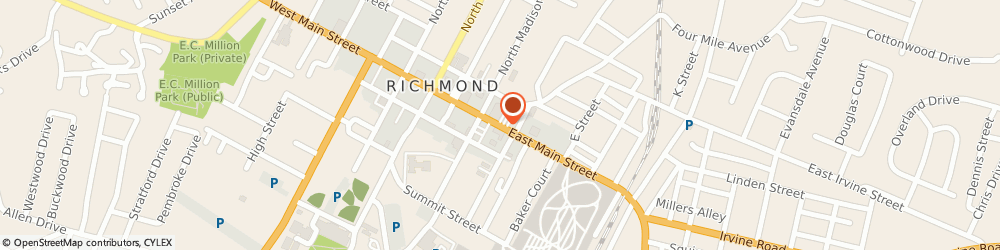 Route/map/directions to PNC BANK, 40475 Richmond, 275 East Main Street