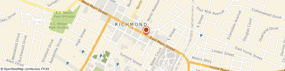 Route/map/directions to Citibank ATM, 40475 Richmond, 200 East Main Street