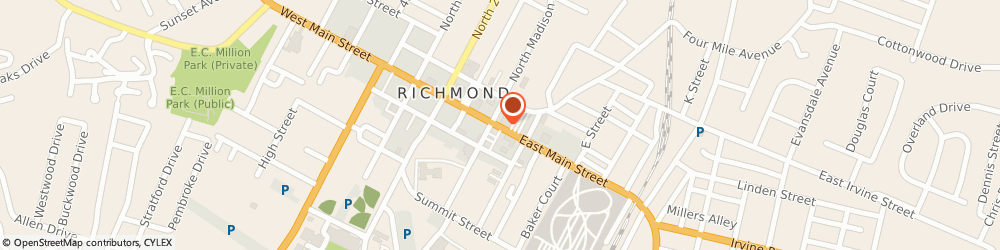Route/map/directions to Wells Fargo Financial, 40475 Richmond, 224 E MAIN ST