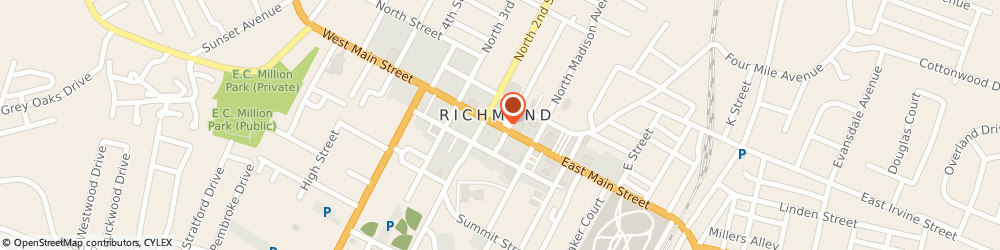 Route/map/directions to Chase, 40475 Richmond, 116 WEST MAIN STREET