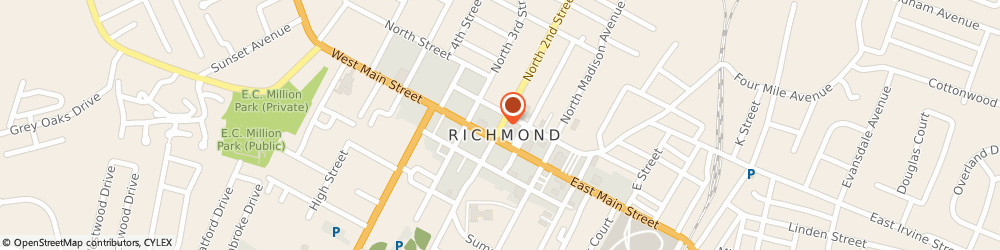 Route/map/directions to Progressive Insurance, 40475 Richmond, 120 N 2 Nd St