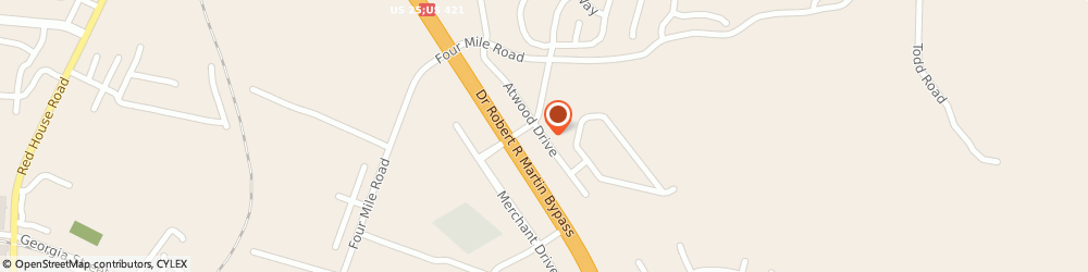 Route/map/directions to MIRACLE EAR, 40475 Richmond, 5019 Atwood Dr