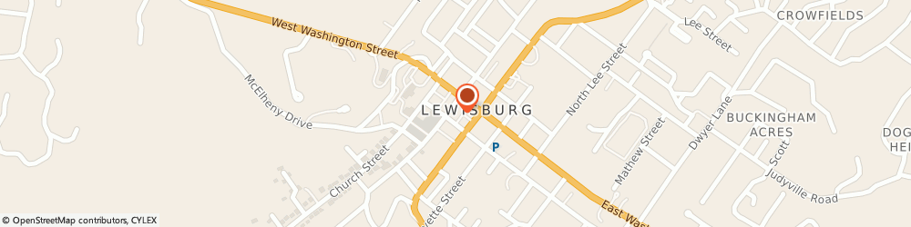 Route/map/directions to Adorn Handcrafts, 24901 Lewisburg, 121 Stratton Alley