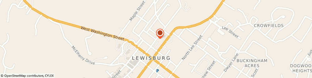 Route/map/directions to Arbuckle Douglas H Attorney, 24901 Lewisburg, 205 N Court St
