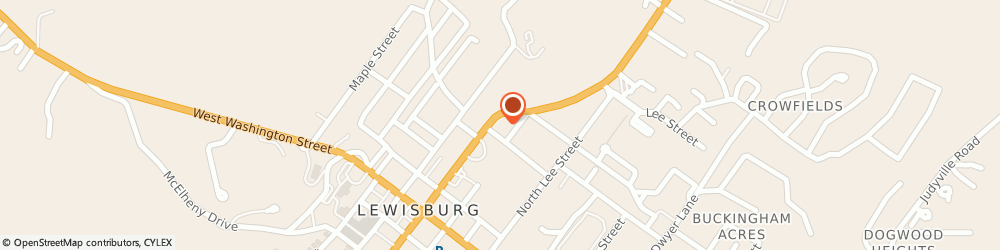 Route/map/directions to Estate Antiques, 24901 Lewisburg, 100 Chestnut St