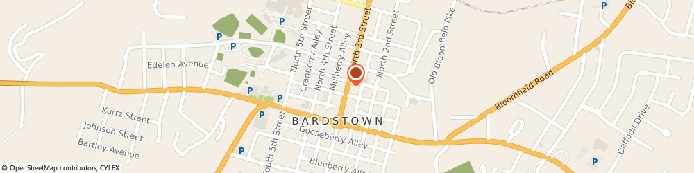 Route/map/directions to Hurst David Insurance, 40004 Bardstown, 225 N 3Rd St