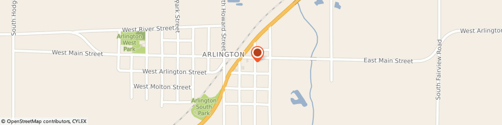 Route/map/directions to Village Place, 67514 Arlington, 105 W Main St