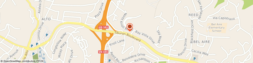 Route/map/directions to Citibank, 94941 Mill Valley, 101 Tiburon Blvd