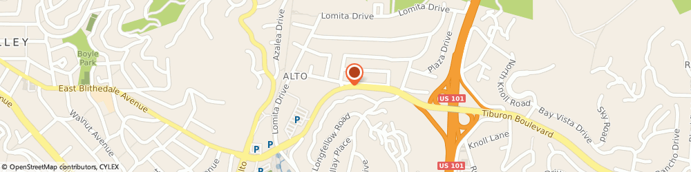 Route/map/directions to Citibank ATM, 94941 Mill Valley, 767 East Blithedale Avenue