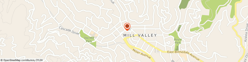 Route/map/directions to US BANK, 94941 Mill Valley, 71 THROCKMORTON AVENUE
