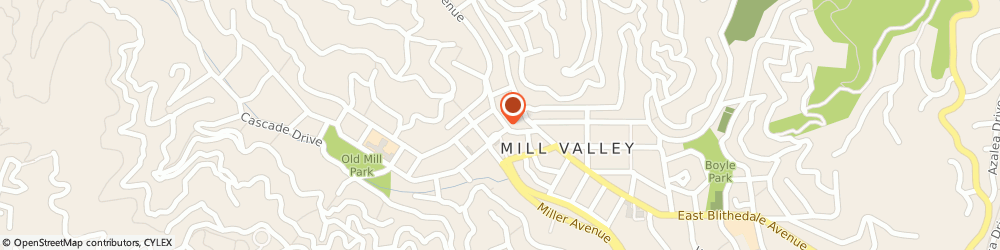 Route/map/directions to Bank of America, 94941 Mill Valley, 60 THROCKMORTON AVE