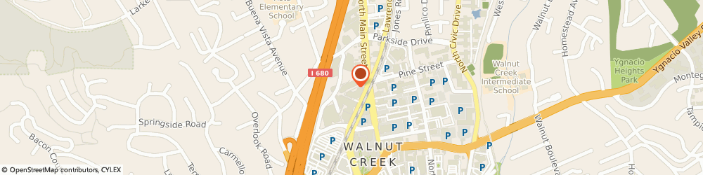 Route/map/directions to UBS Walnut Creek, 94596 Walnut Creek, 2185 N California Boulevard