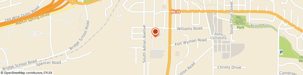 Route/map/directions to KFC, 65401 Rolla, 1001 Strobach Street