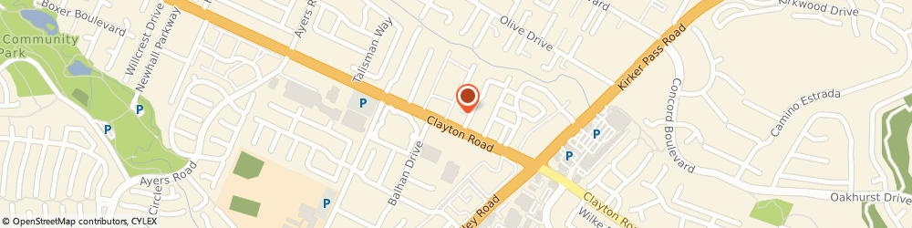 Route/map/directions to AutoZone Auto Parts, 94521 Concord, 5267 Clayton Rd