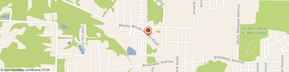 Route/map/directions to Hickory Lake Apts, 47712 Evansville, 1201 BEGONIA CT