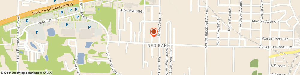Route/map/directions to Foxfire West Apartments, 47712 Evansville, 360 SOUTH ROSENBERGER AVENUE