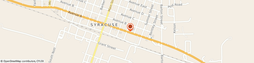 Route/map/directions to Kc Mexican American Restaurant, 67878 Syracuse, 401 W HIGHWAY 50