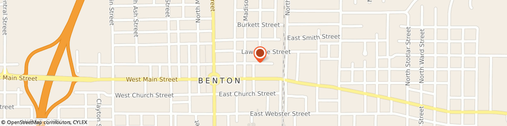 Route/map/directions to Safeco Insurance Agent, 62812-2146 Benton, 307 E Washington St