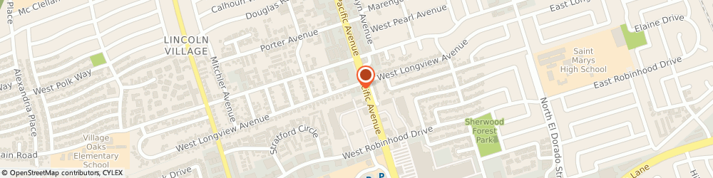 Route/map/directions to Midas, 95207 Stockton, 5897 Pacific Avenue
