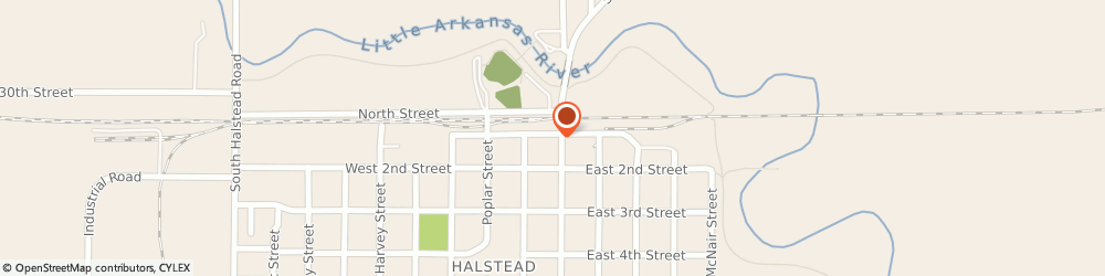 Route/map/directions to Subway, 67056 Halstead, 101 Main St
