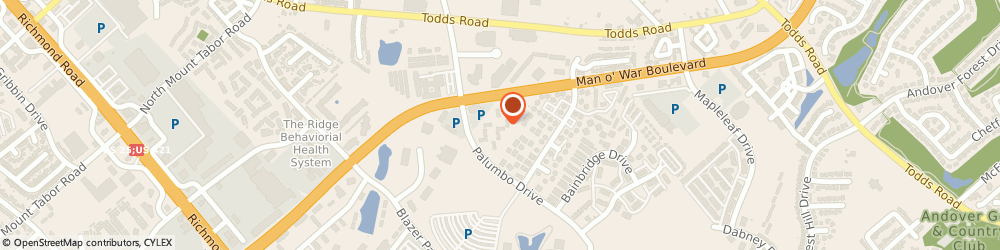 Route/map/directions to Man o War Crossing Apartments, 40509 Lexington, 2845 PALUMBO DR